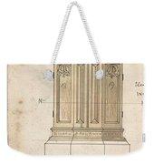 Design For Font Cover Ernest Geldart British, Londn 1848-1929 Weekender Tote Bag