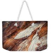 Detail Of Abstract Shape On Old Wood Weekender Tote Bag