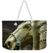 Details Of Head Of Horse From Terra Cotta Warriors, Xian, China Weekender Tote Bag