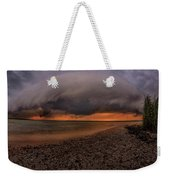 Detroit Point Storm Moving In Weekender Tote Bag