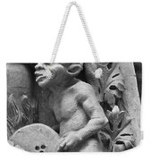 Devil Fanning The Fire, From The Last Judgement Of The Cathedral Of St Etienne In Bourges  Weekender Tote Bag