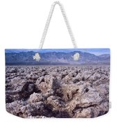 Devil's Golf Course Cloudy Morning Weekender Tote Bag