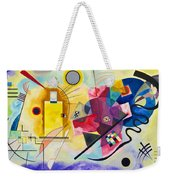 Digital Remastered Edition - Yellow, Red, Blue Weekender Tote Bag