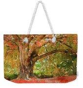 Digital Watercolor Painting Of Beautiful Autumn Fall Nature Fair Weekender Tote Bag