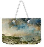 Digital Watercolor Painting Of Beautiful Landscape Panorama Suns Weekender Tote Bag