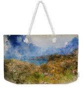 Digital Watercolor Painting Of Lizard Point And Lighthouse, The  Weekender Tote Bag