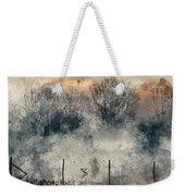 Digital Watercolor Painting Of Panorama Landscape Of Lake In Mis Weekender Tote Bag