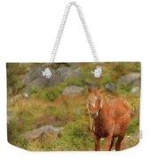 Digital Watercolor Painting Of Stunning Image Of Wild Pony In Sn Weekender Tote Bag