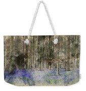 Digital Watercolor Painting Of Stunning Landscape Of Bluebell Fo Weekender Tote Bag
