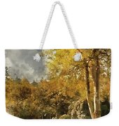 Digital Watercolor Painting Of Stunning Vibrant Autumn Forest La Weekender Tote Bag
