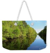 Dismal Swamp Canal In Spring Weekender Tote Bag