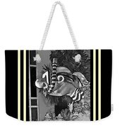 Diving The Great Barrier Reef In Black And White Weekender Tote Bag