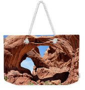 Double Arch In Utah Park During Summer Time  Weekender Tote Bag