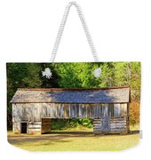 Double Crib Barn In Cades Cove In Smoky Mountains National Park Weekender Tote Bag