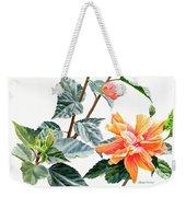 Double Orange Hibiscus With Buds Weekender Tote Bag