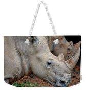 Double Rhino Weekender Tote Bag