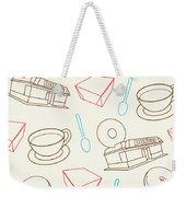Doughnut_wallpaper_f3 Weekender Tote Bag
