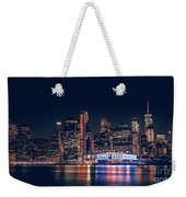 Downtown At Night Weekender Tote Bag by Dheeraj Mutha