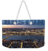 Downtown Boston At Night With Charkes River In The Middle Weekender Tote Bag