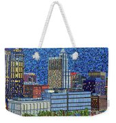 Downtown Raleigh - City At Night Weekender Tote Bag