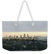 Downtown Sunset Weekender Tote Bag by Juan Contreras