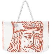 Dracula Or Vlad Tepes, 1491 Woodcut Weekender Tote Bag