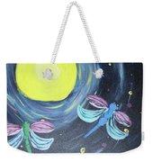 Dragonflies And Moonlight Weekender Tote Bag