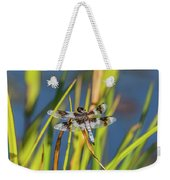 Dragonfly Perched By Pond Weekender Tote Bag