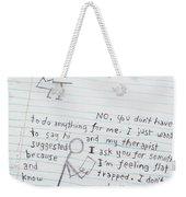 Dream Diary Weekender Tote Bag
