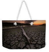 Dry Banks Of Rainy River After Sunset Weekender Tote Bag