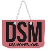 Dsm Des Moines Luggage Tag I Weekender Tote Bag