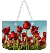 Dutch Red Tulip Field. Weekender Tote Bag by Anjo Ten Kate