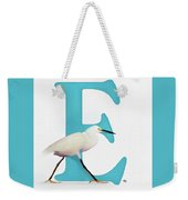 E Is For Egret Weekender Tote Bag