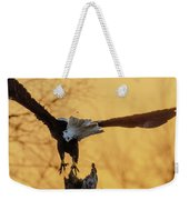 Eagle Flying Off Weekender Tote Bag by Steven Santamour