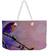 Early Bird Weekender Tote Bag by Jacqueline Athmann