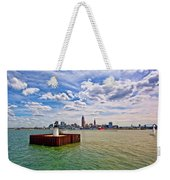 East Pierhead Lighthouse View Of Cleveland Weekender Tote Bag