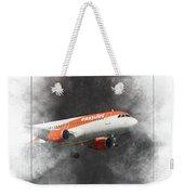 Easyjet Airbus A319-111 Painting Weekender Tote Bag
