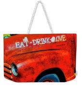 Eat Drink Love Rusty Truck Weekender Tote Bag