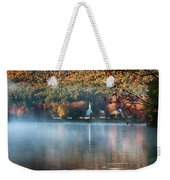 Eaton Nh Little White Church With Fall Foliage Weekender Tote Bag by Jeff Folger
