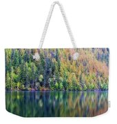 Echo Lake Autumn Shore Weekender Tote Bag