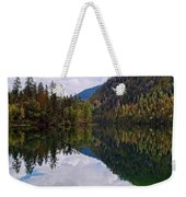Echo Lake Early Autumn Reflection Weekender Tote Bag