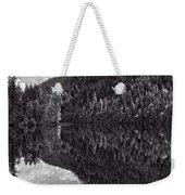 Echo Lake Reflection Black And White Weekender Tote Bag