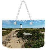 Edgartown Lighthouse Marthas Vineyard Weekender Tote Bag