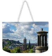 Edinburgh Castle From Calton Hill Weekender Tote Bag