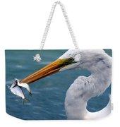 Egret Feeding  Weekender Tote Bag