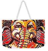Elephant Face Weekender Tote Bag