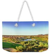 Elevated View Of Golf Course, Sun City Weekender Tote Bag