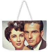 Elizabeth Taylor And Montgomery Clift, Hollywood Legends Weekender Tote Bag