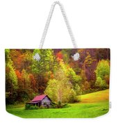 Embraced In Autumn Color Painting Weekender Tote Bag