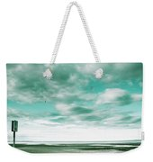 Empty Beach Bench Weekender Tote Bag